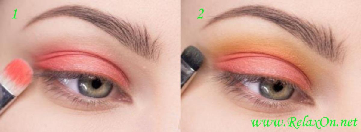 1 Пошаговый макияж для серо-голубых глаз