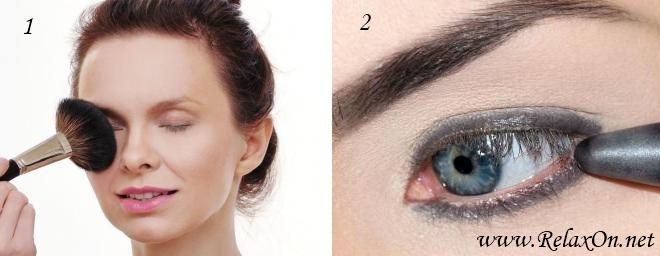 1-Повседневный макияж для голубых глаз