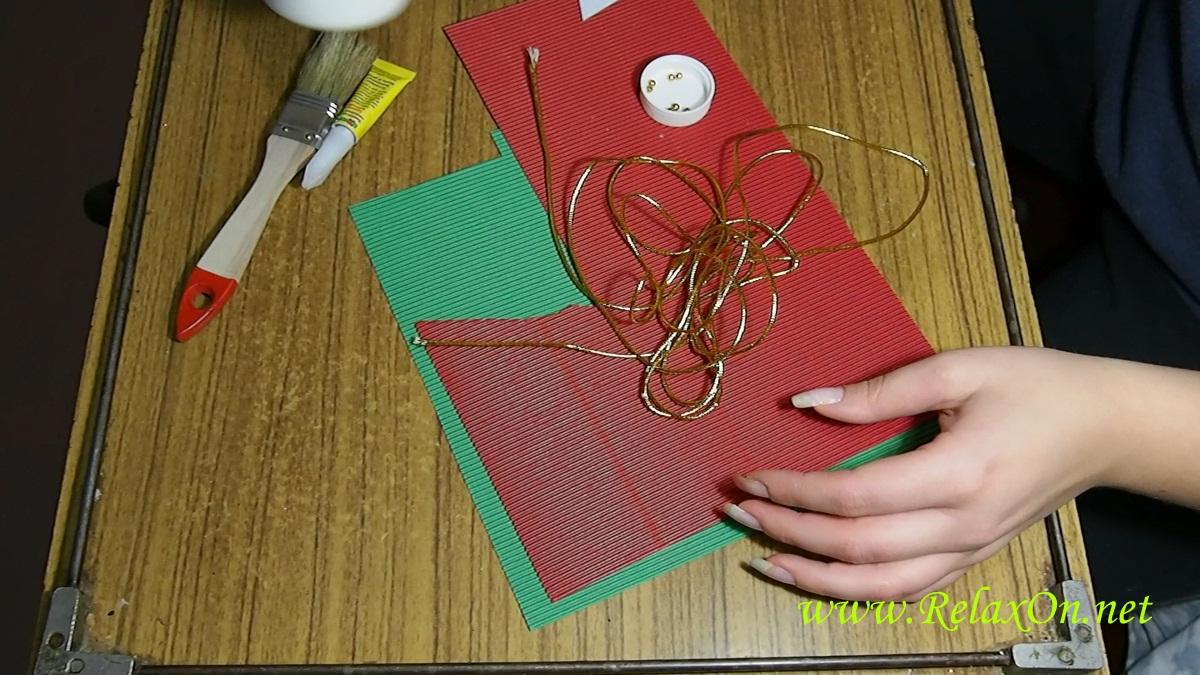 1- из чего сделать открытку на новый год