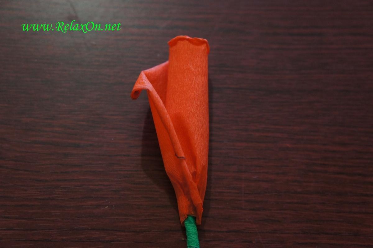 роза из бумаги пошагово