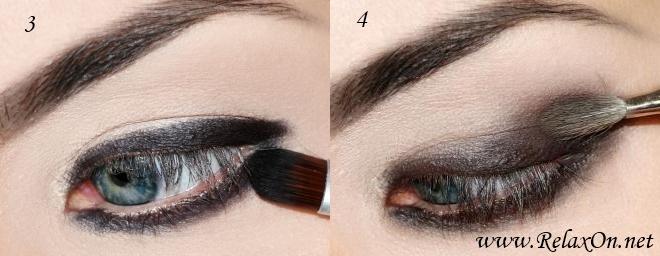 2-Макияж для голубых глаз пошагово
