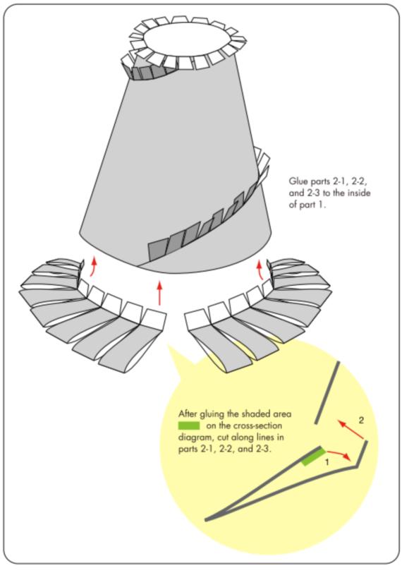 2- Пошаговая инструкци к шляпе из бумаги