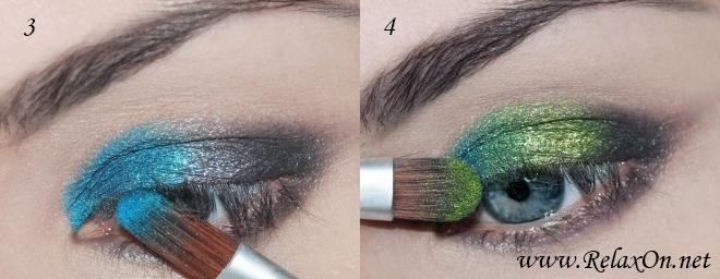 2 Пошаговый макияж для голубых глаз