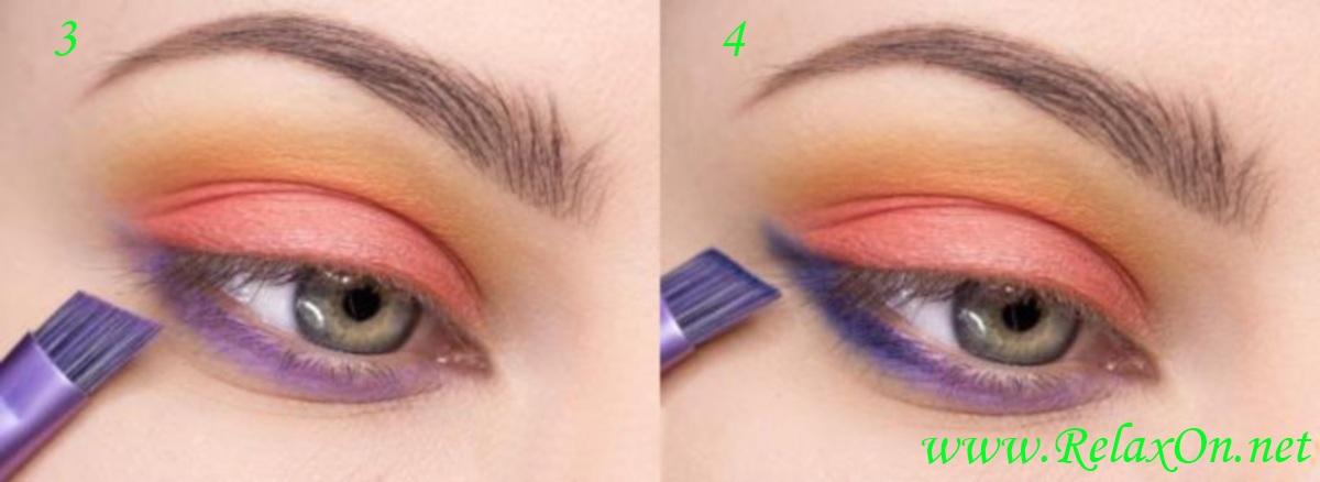 2  Пошаговый макияж для серо-голубых глаз