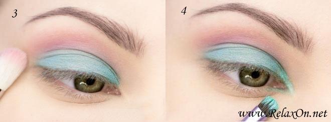 2-макияж для серо-зеленых глаз пошагово