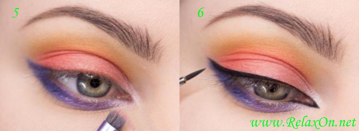 3 Макияж для серо голубых глаз пошагово
