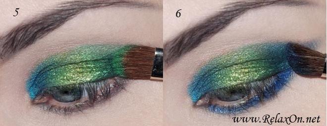 3 Пошаговый макияж для голубых глаз