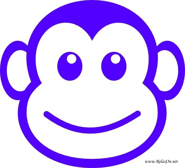 3-Трафарет обезьяны на Новый год 2016
