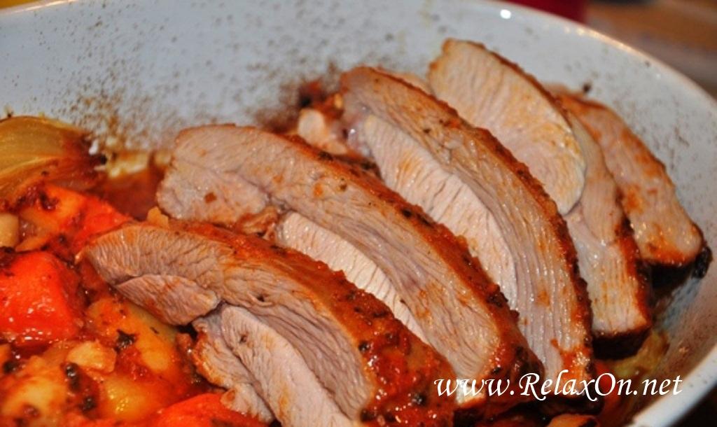 3--филе индейки запеченное в духовке пошагово с фото