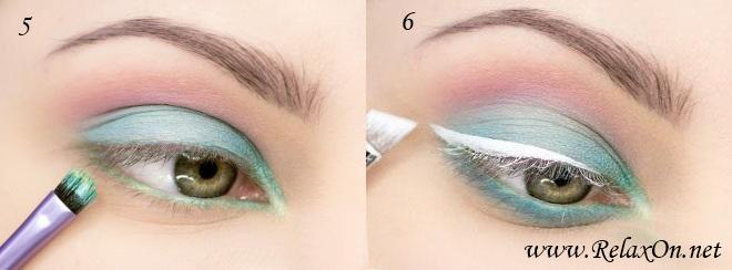 3-макияж для серо-зеленых глаз пошагово