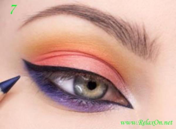 4 Макияж для серо голубых глаз пошагово