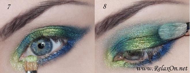 4 Пошаговый макияж для голубых глаз
