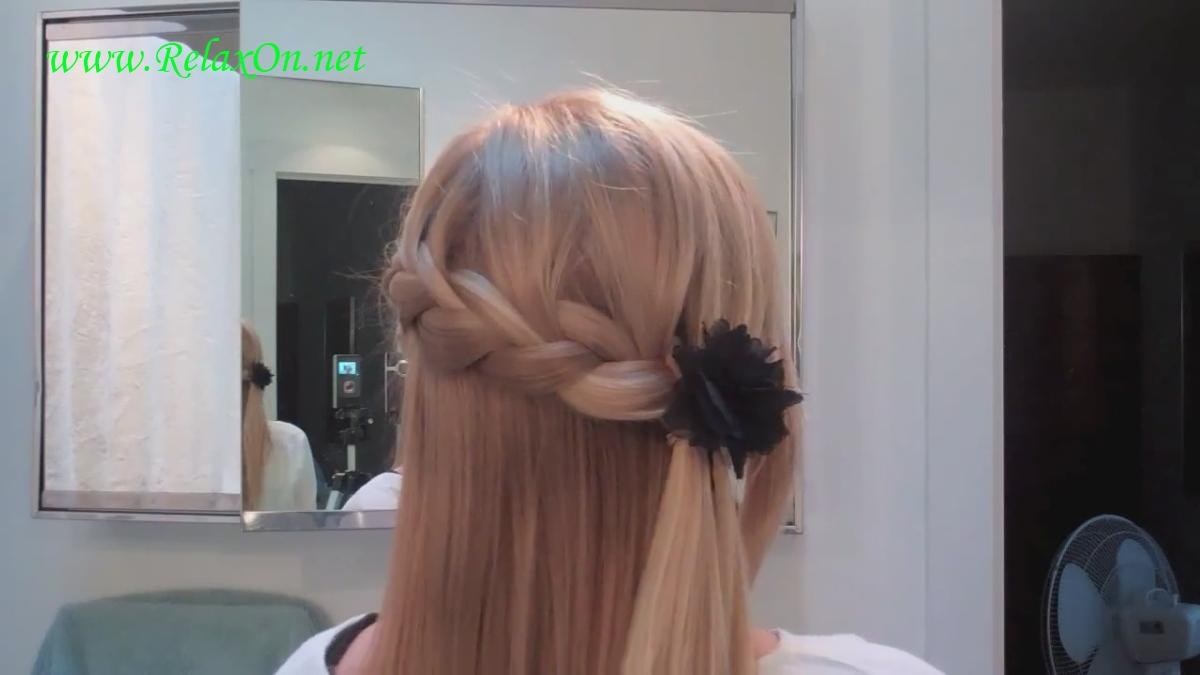 4  прически на длинные и средние волосы с короткой французской косой