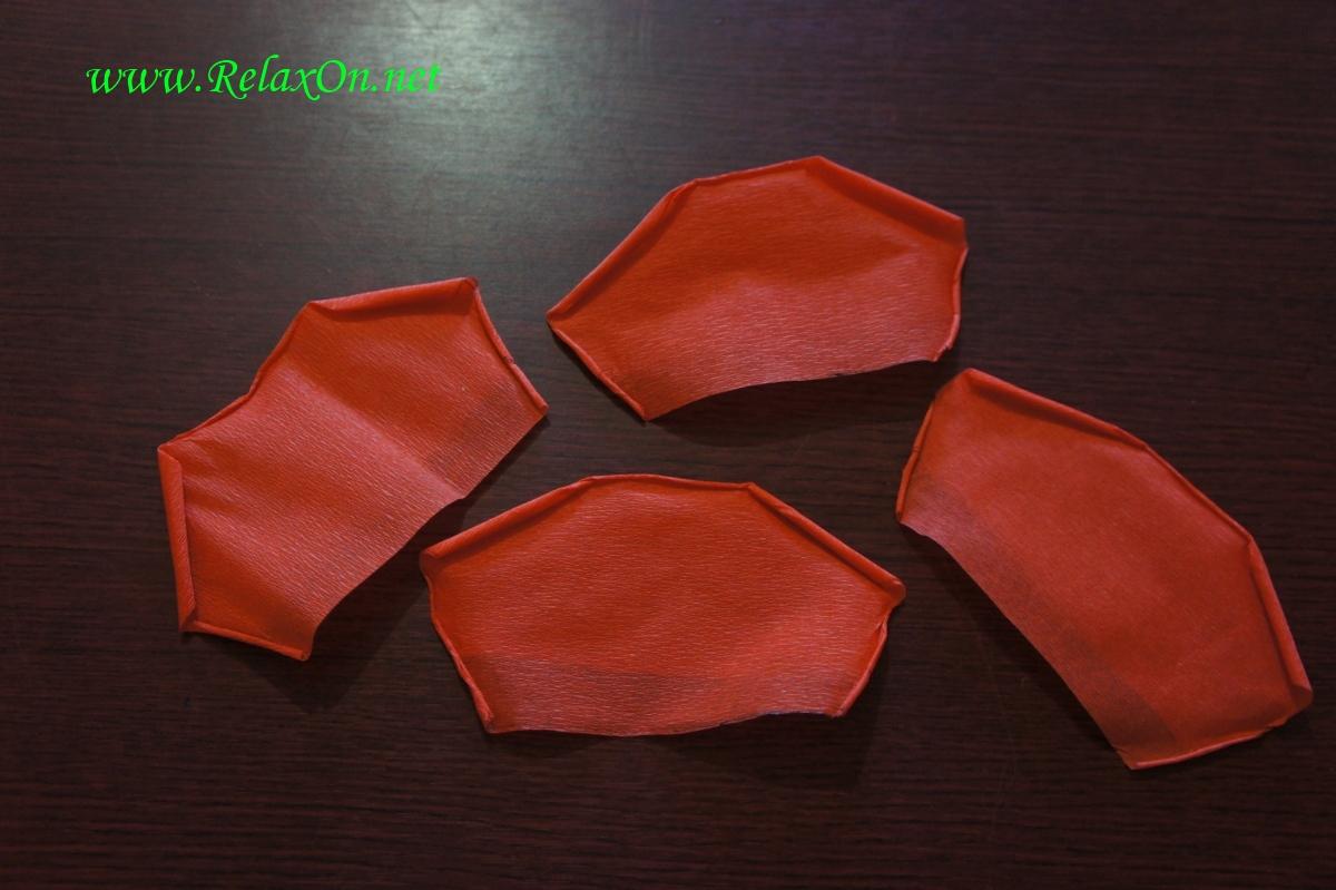 Лепестки для бумажной розы