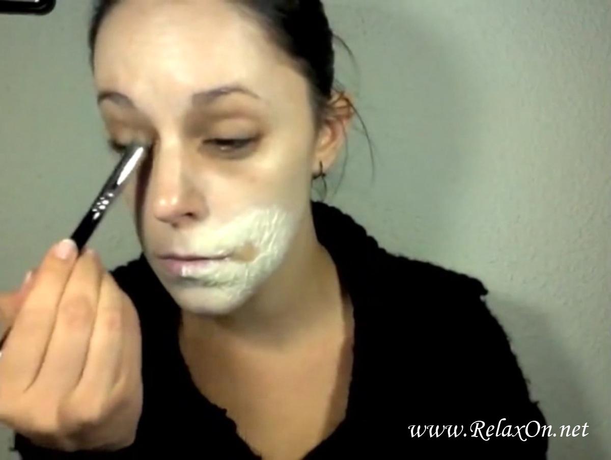 5-макияж на хэллоуин зомби пошагово