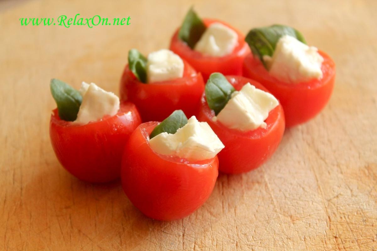 6- Рецепт канапе в помидоре