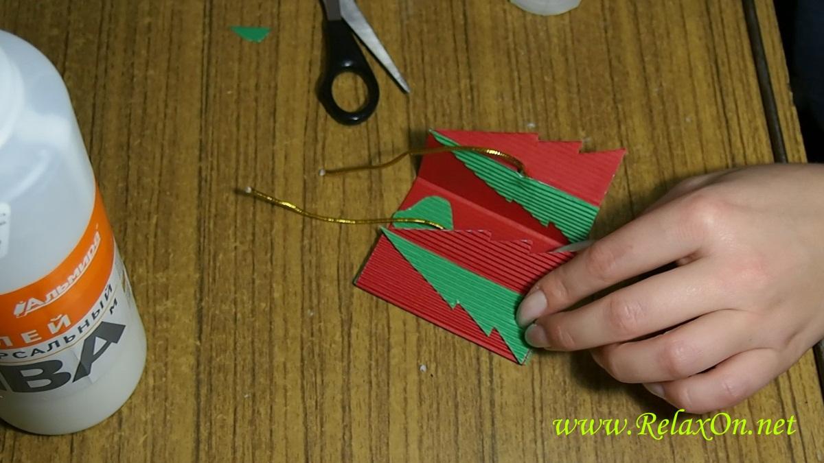 8- Новогодняя открытка своими руками