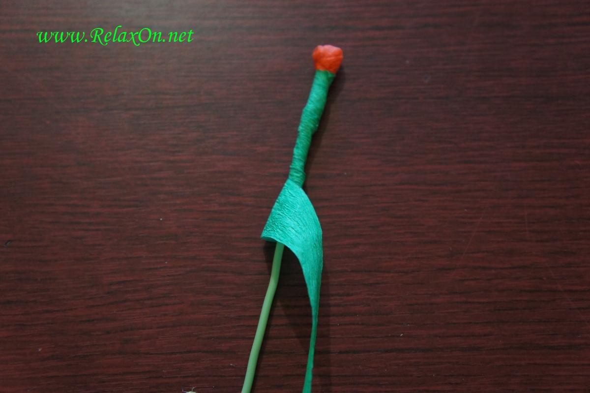 Стебель для бумажной розы