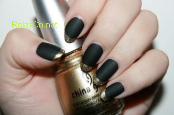 Черные ногти с фото