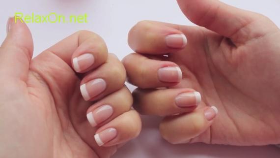Дизайн ногтей френч белый.