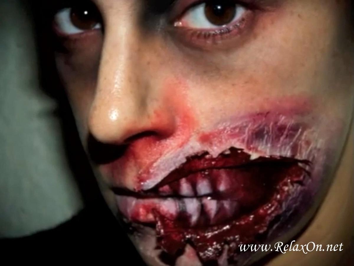 Как сделать макияж на хэллоуин зомби