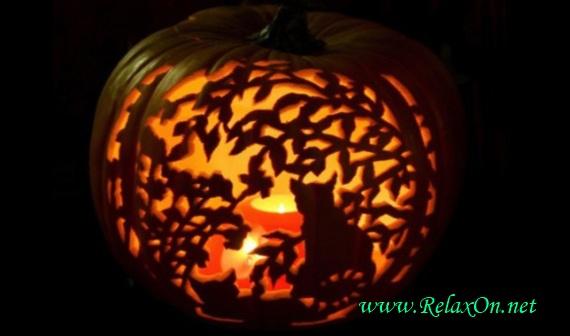 Каотинка тыквы на Хэллоуин