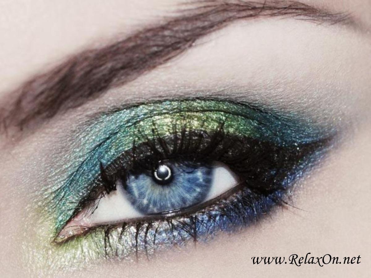 Макияж на голубые глаза