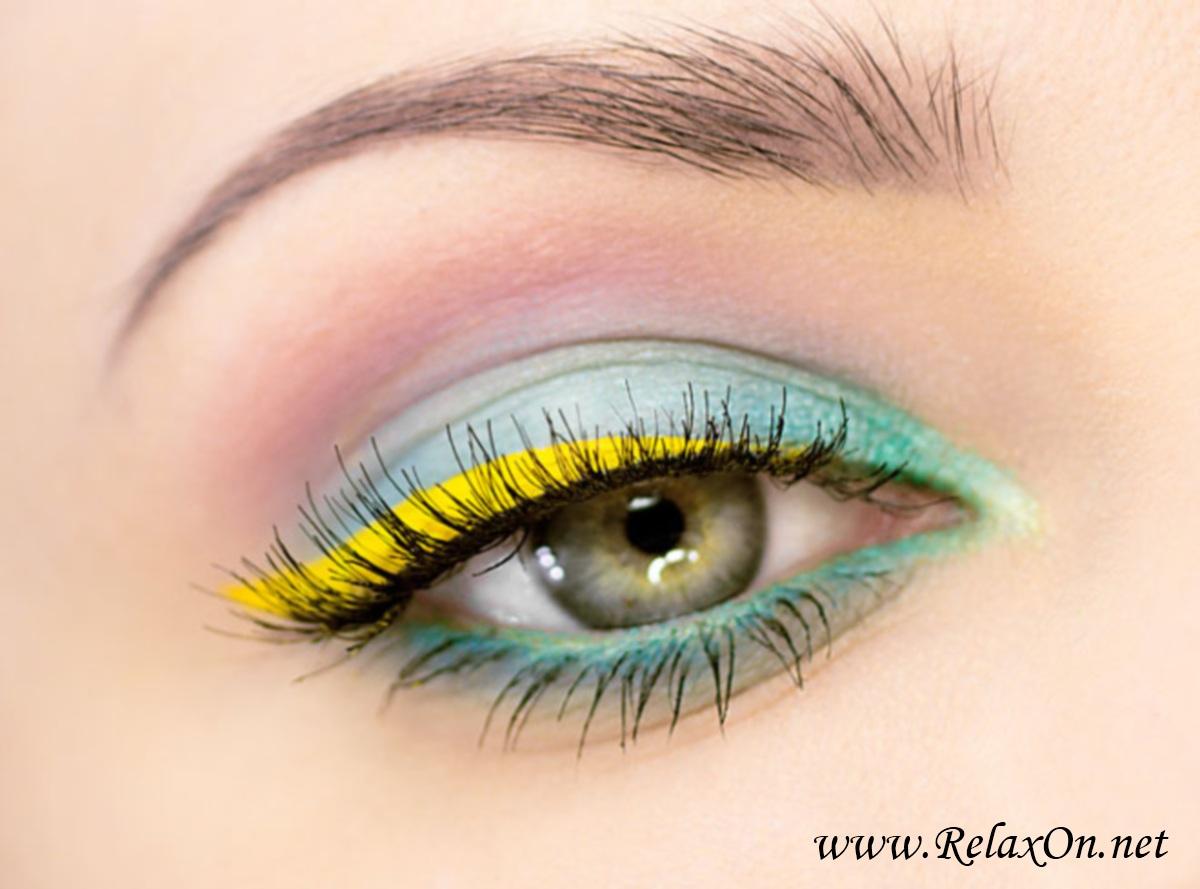 Макияж на серо зеленые глаза