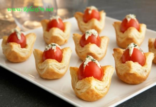Рецепт томатных тарталеток