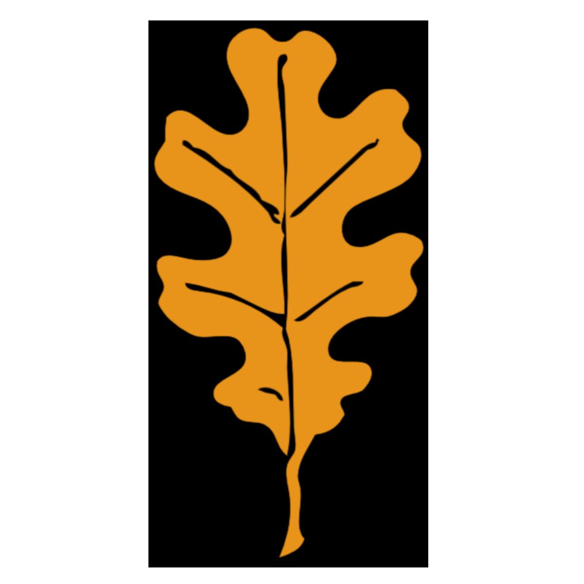 Трафарет дубовых листьев-7