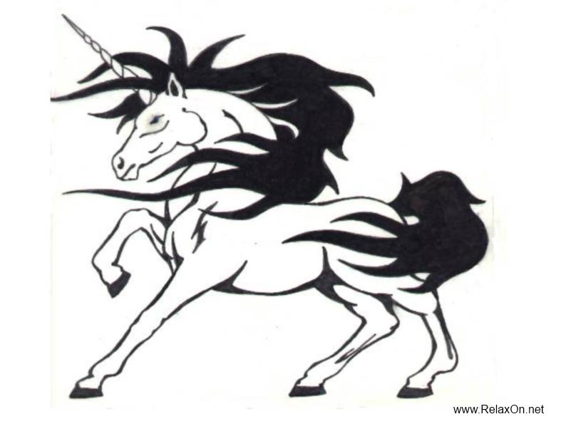 Трафарет к году Лошади