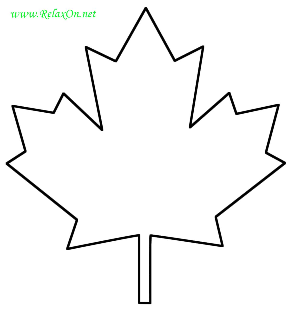 Трафарет кленовых листьев-5