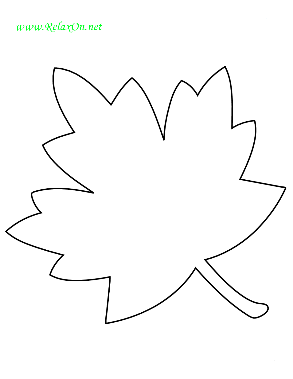 Трафарет листьев клена-3