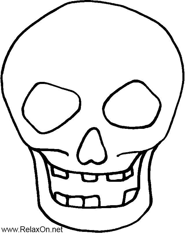 Трафарет на окно череп