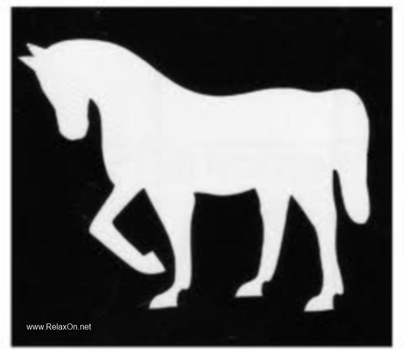 Трафарет на окно к Году лошади