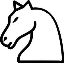 Трафарет на окно- шахматный конь