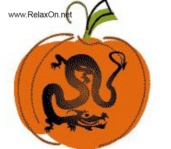 Трафарет на хэллоуин Змей