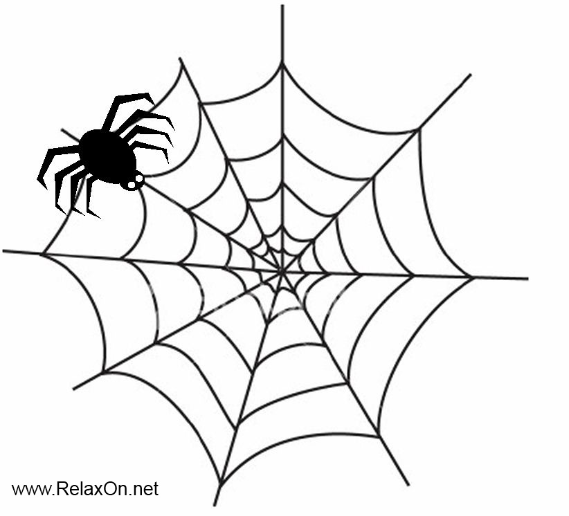 Трафарет паутина с пауком