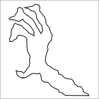 Трафарет рука на хэллоуин